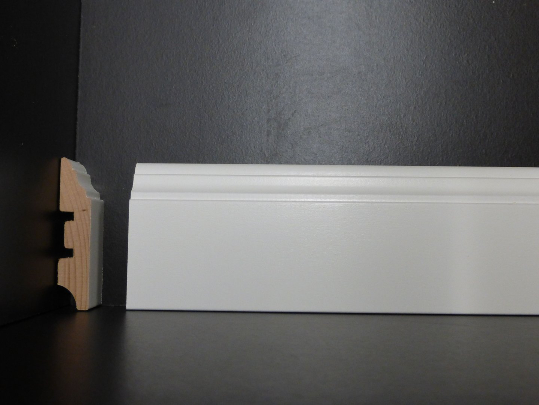 sockelleiste massivholz weiß lackiert in 13x58mm holz-leisten.de